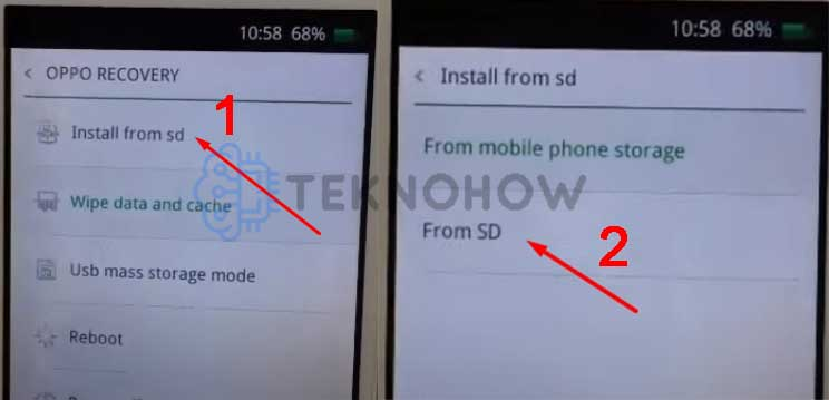install firmware oppo a11w