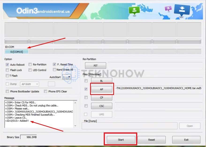 Tahapan Flash Samsung J1