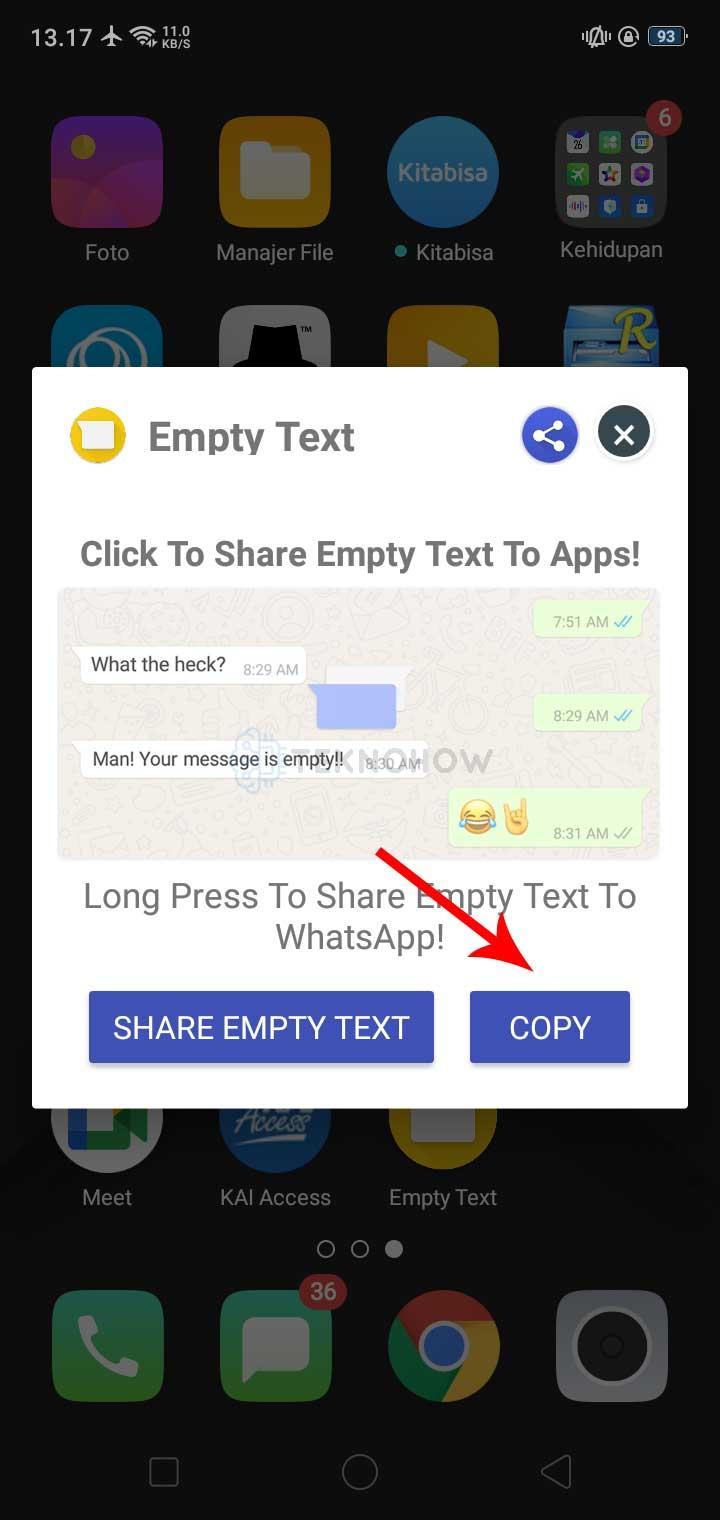 Copy Tulisan Kosong Di Empty Text